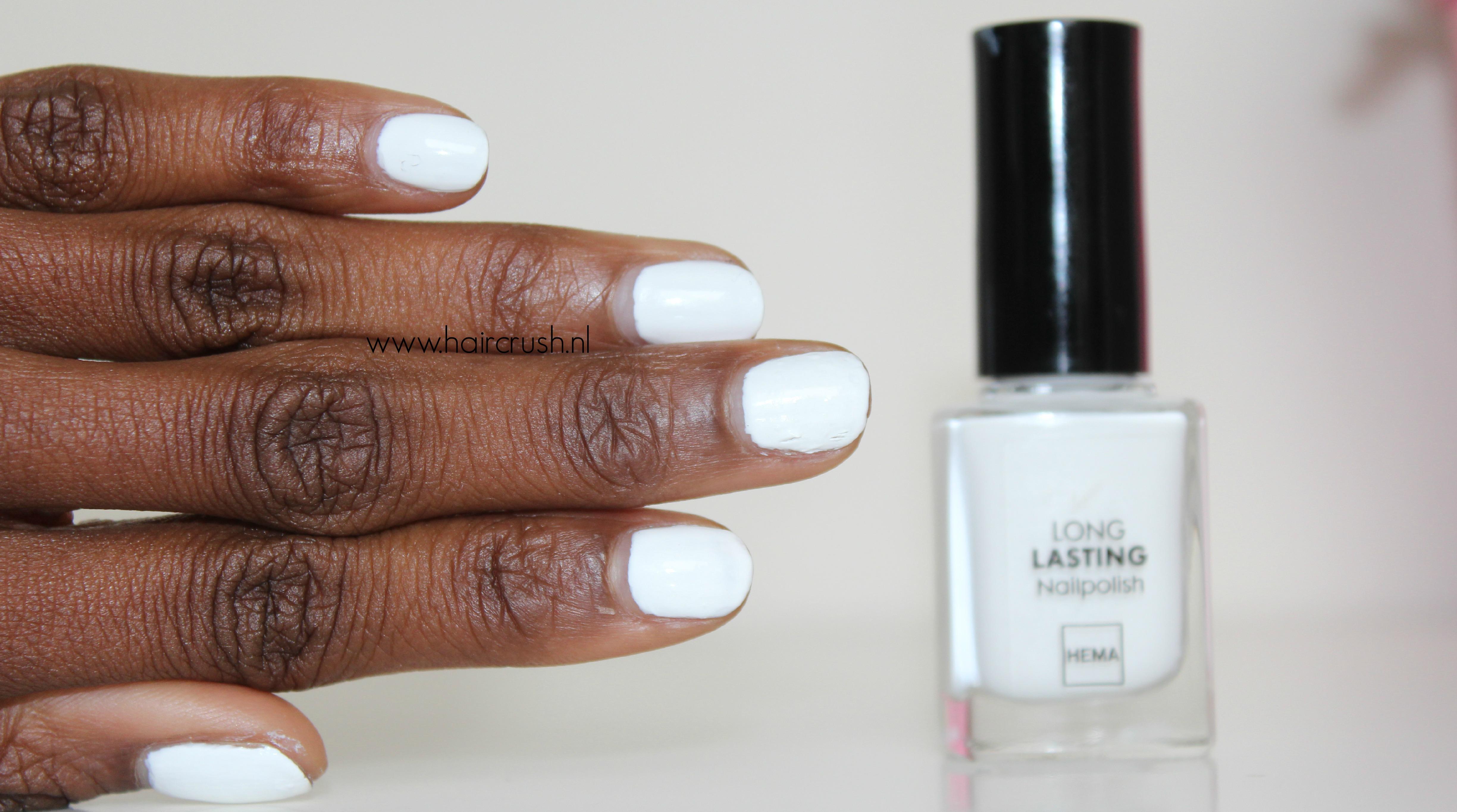 hema witte nagellak